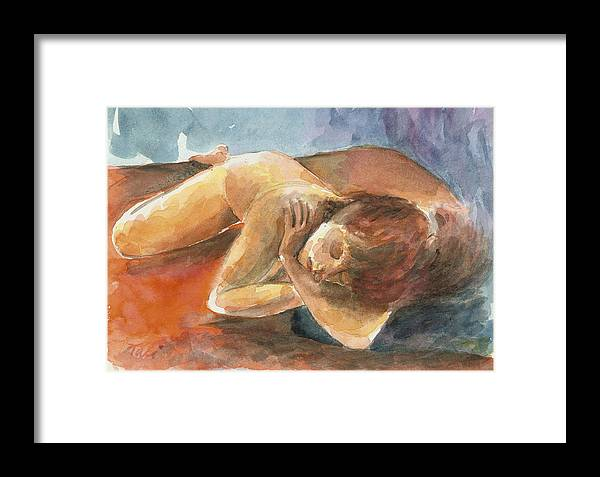 Dream Framed Print featuring the painting Chalom Parua by Tali Farchi