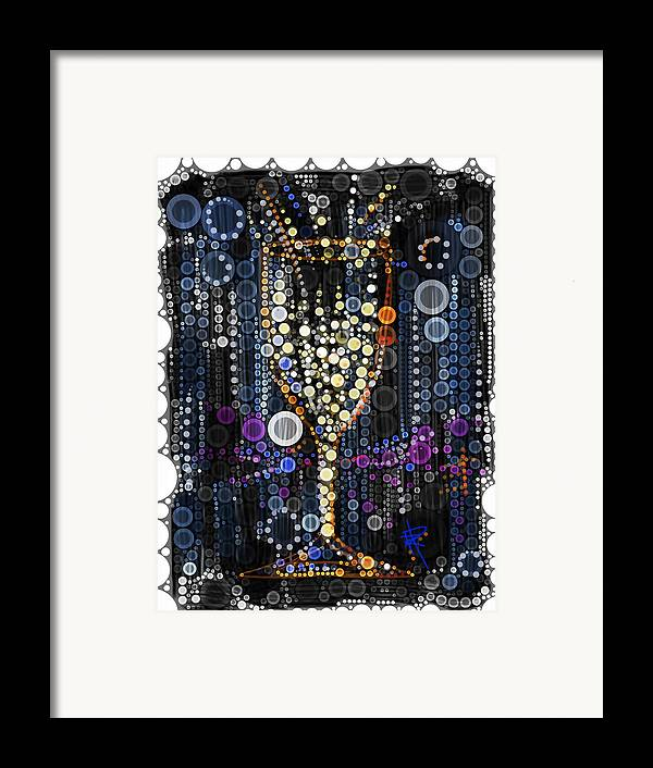 Celebration Framed Print featuring the digital art Champagne Flute by Russell Pierce