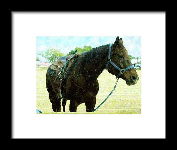 Abstract Framed Print featuring the mixed media Champion by Florene Welebny