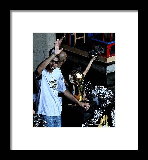 San Antonio Framed Print featuring the painting Champions On Parade by Diana Gonzalez