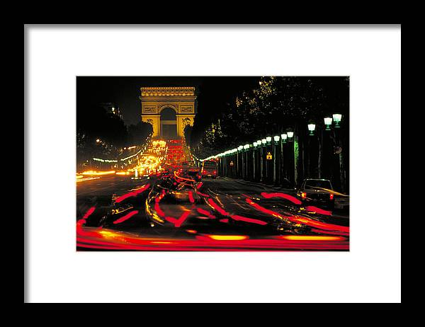 France Framed Print featuring the photograph Champs Elysee In Paris by Carl Purcell