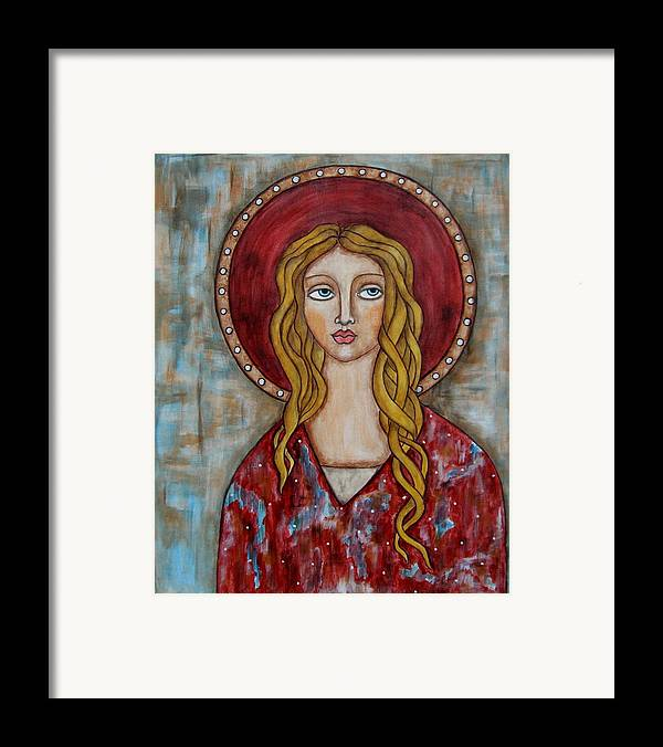 Folk Art Paintings Paintings Framed Print featuring the painting Chamuel by Rain Ririn