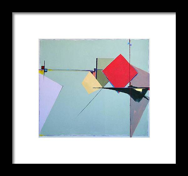 Abstract Framed Print featuring the painting Chance Encounters by M Jaquis