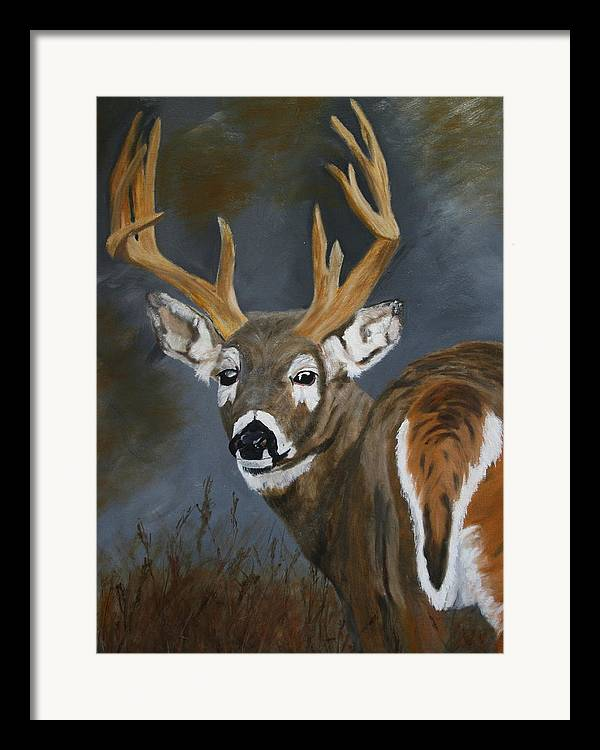 13 Pointer Framed Print featuring the painting Chance Meeting by Robert Tower