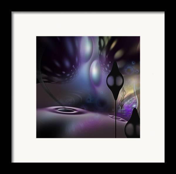 Digital Framed Print featuring the digital art Chandeliers by Aleksandar Zisovski