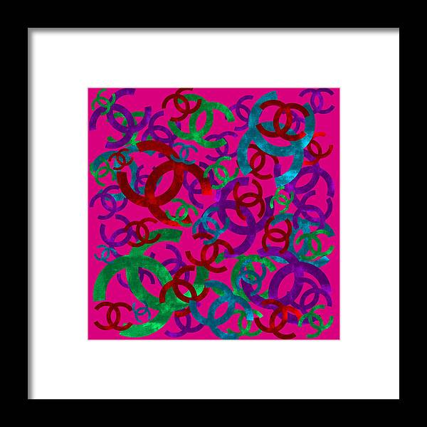 Chanel Framed Print featuring the painting Chanel Sign-6 by Nikita