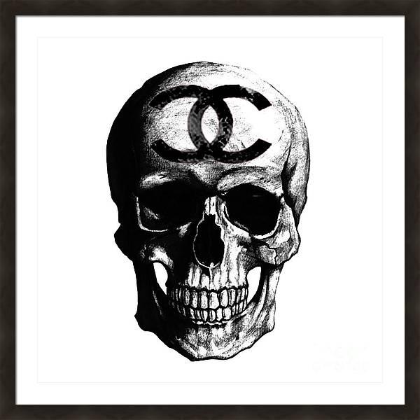 Chanel Skull Black by Del Art