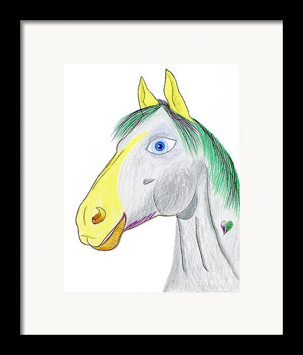 Horse Framed Print featuring the painting Chanel by Tess M J Iroldi