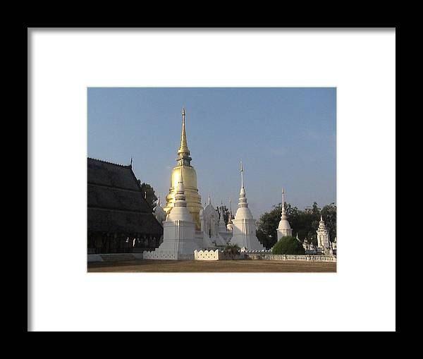 Travel Framed Print featuring the photograph Chang Mai Temple by William Thomas