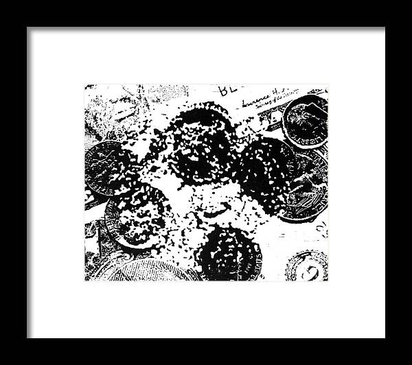 Black Framed Print featuring the painting Change-- Hand-pulled Woodcut by Lynn Evenson