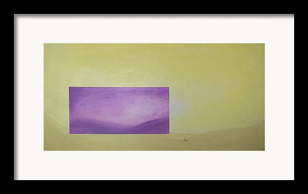 Abstract Framed Print featuring the painting Change by Bojana Randall