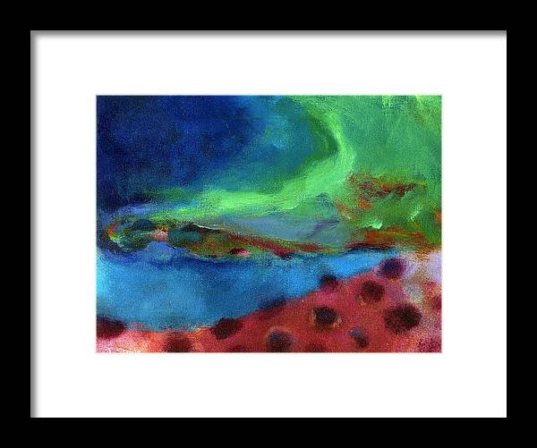 Abstract Framed Print featuring the painting Changes by Jessica Stride