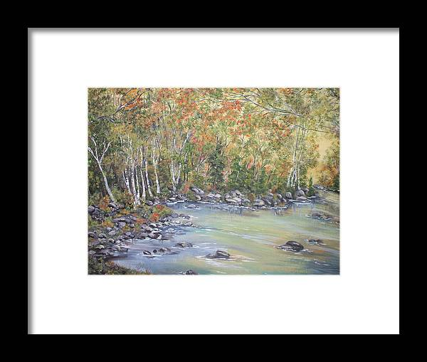 Fall Framed Print featuring the painting Changing Seasons by Bev Neely