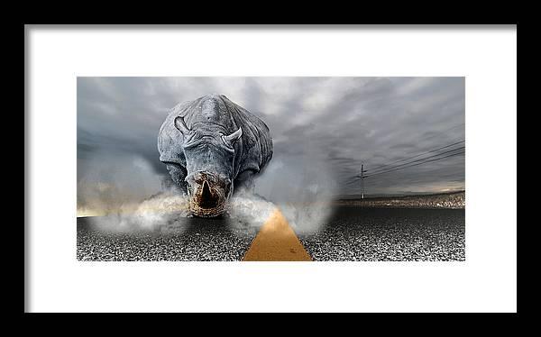 Chaos Artwork Photoshop Framed Print featuring the digital art Chaos by Alex Grichenko