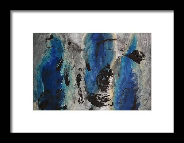 Abstract Framed Print featuring the painting Chaos by Lauren Luna