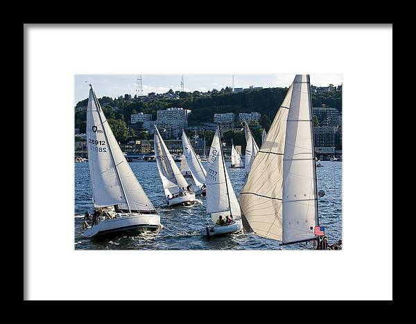 Seattle Framed Print featuring the photograph Chaos by Tom Dowd