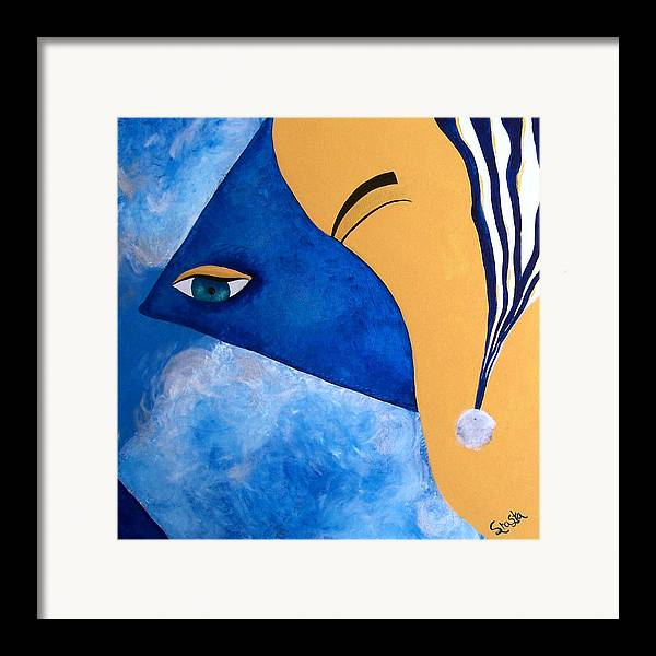 Contemporary Abstract Framed Print featuring the painting Chaotic Slumber by Shasta Miller