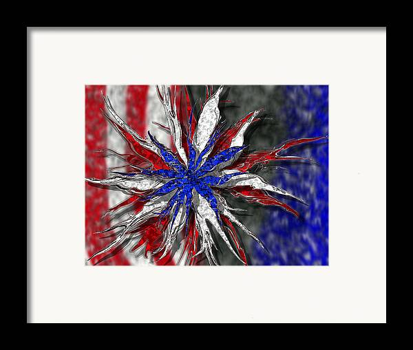 Abstract Art Framed Print featuring the digital art Chaotic Star Project - Take 3 by Scott Hovind
