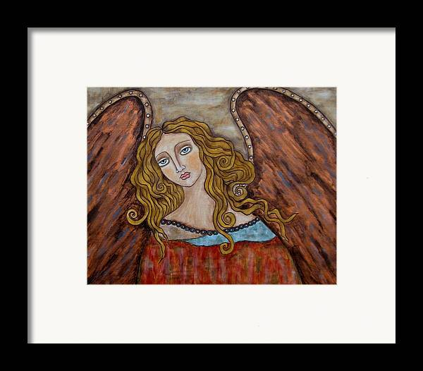 Folk Art Paintings Paintings Framed Print featuring the painting Chaourum by Rain Ririn