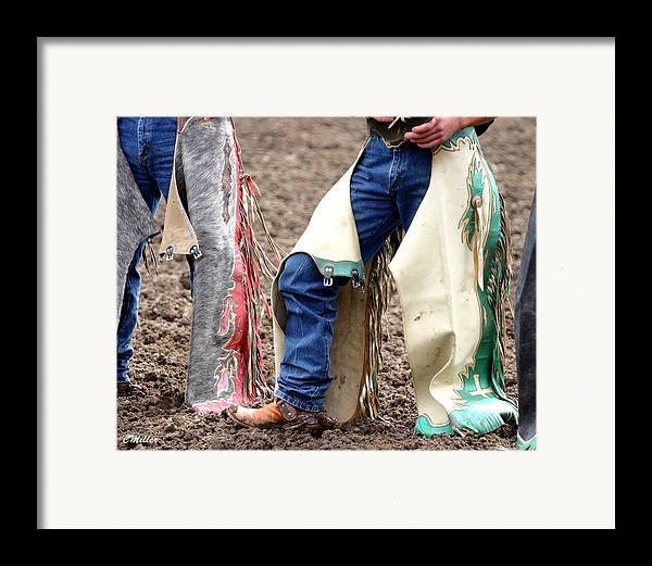 Rodeo Framed Print featuring the photograph Chaps.. by Carol Miller