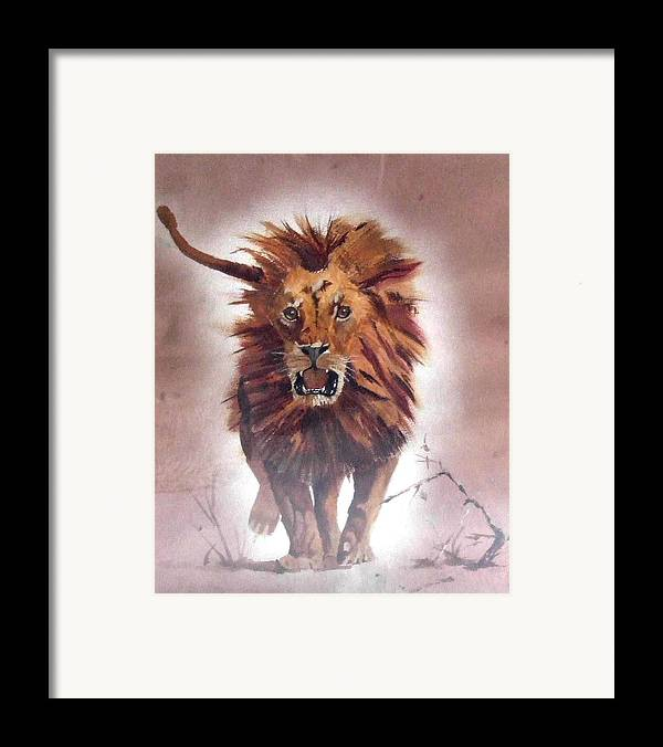 Nature Framed Print featuring the painting Charge by Jane Simpson