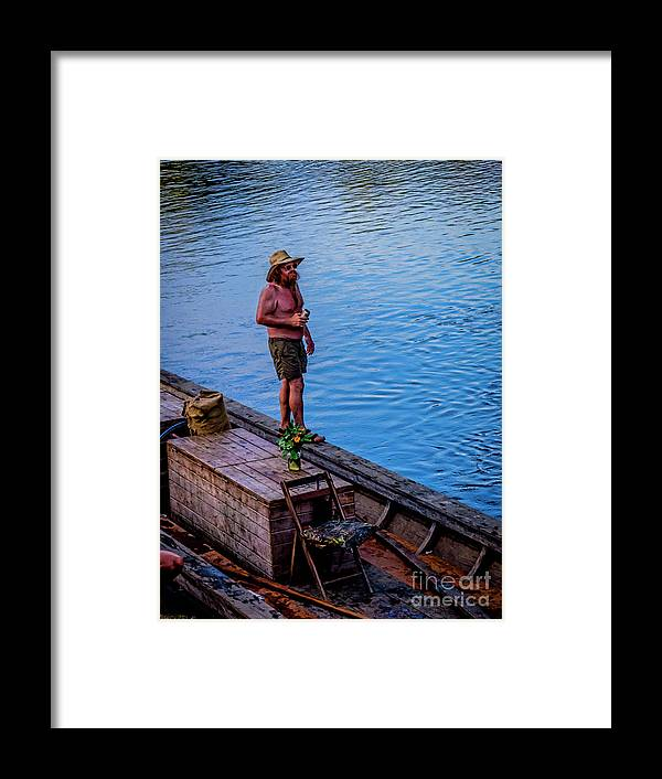 Batteau Framed Print featuring the photograph Charles Anderson On The Walkboard 1077vt by Doug Berry
