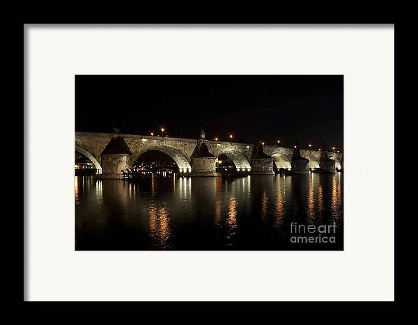 Bridge Framed Print featuring the photograph Charles Bridge At Night by Michal Boubin