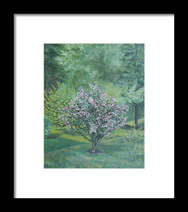 Blooming Framed Print featuring the painting Charles Street by Leah Tomaino