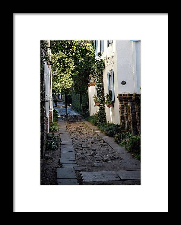 Southcarolina Framed Print featuring the photograph Charleston Alley 1 by Skip Willits