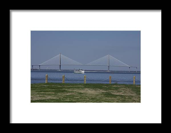 Harbor Framed Print featuring the photograph Charleston Ferry Ride by Bonnes Eyes Fine Art Photography