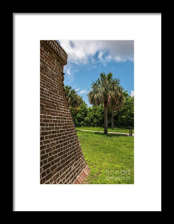 Fort Framed Print featuring the photograph Charleston Fortification by Dale Powell