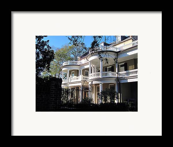 Photography Framed Print featuring the photograph Charlestons Beautiful Architecure by Susanne Van Hulst