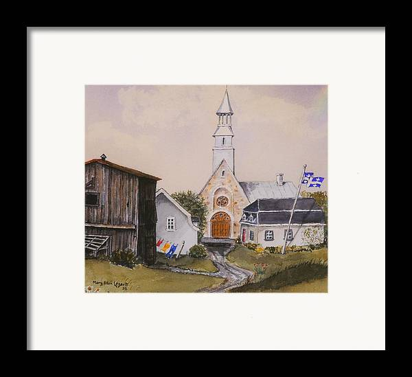 Landscape Framed Print featuring the painting Charlevoix Quebec by Mary Ellen Mueller Legault