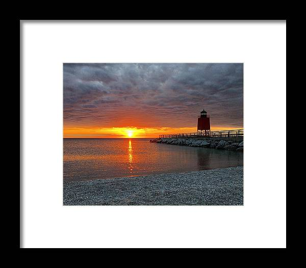 Charlevoix Framed Print featuring the photograph Charlevoix Sunset by Megan Noble