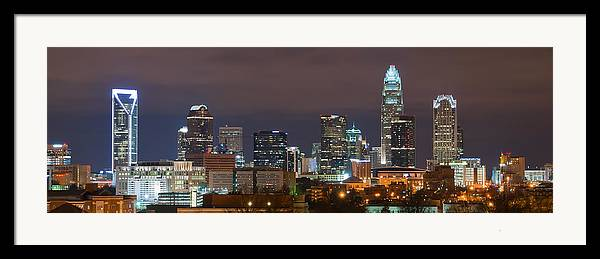 City Framed Print featuring the photograph Charlotte Skyline 2012 by Brian Young