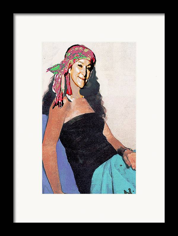 Portrait Framed Print featuring the painting Charm by Noredin Morgan