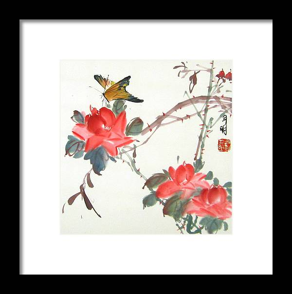 Chinese Painting Framed Print featuring the painting Charm Of Nature by Ming Yeung