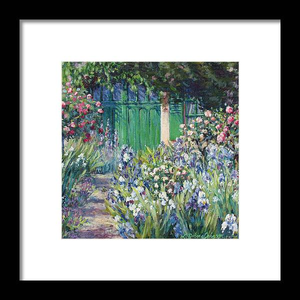 Monet Framed Print featuring the painting Charmed Entry - Monet by L Diane Johnson