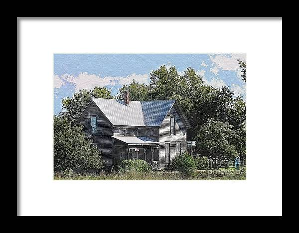 Charming Country Home Framed Print featuring the photograph Charming Country Home by Liane Wright
