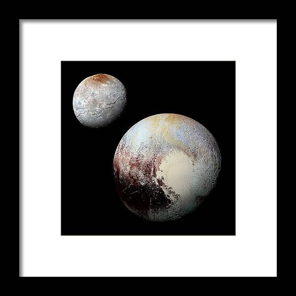 Chaon Framed Print featuring the photograph Charon And Pluto Enhanced by Weston Westmoreland