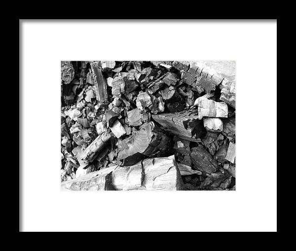 Charcoal Framed Print featuring the photograph Charred II by Anna Villarreal Garbis