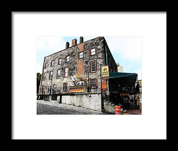 Savannah Framed Print featuring the photograph Chart House by Kim Zwick