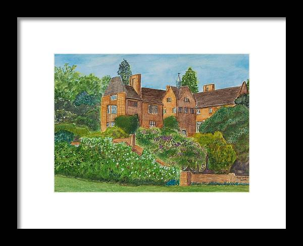 Old Houses Framed Print featuring the painting Chartwell House Westerham Kent by Tony Williams