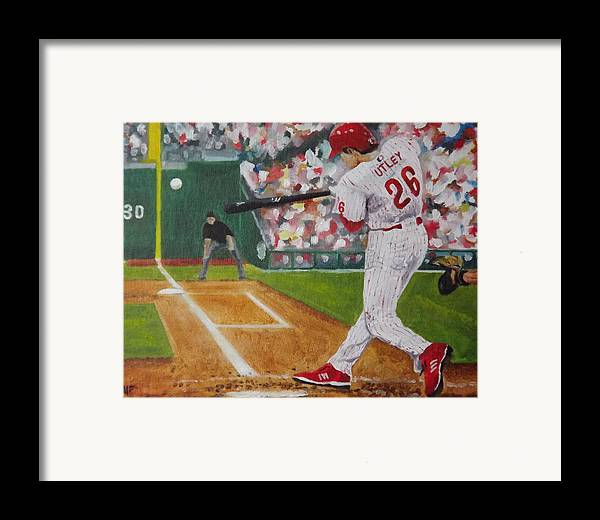 Ballpark Framed Print featuring the painting Chase by Al Fonollosa