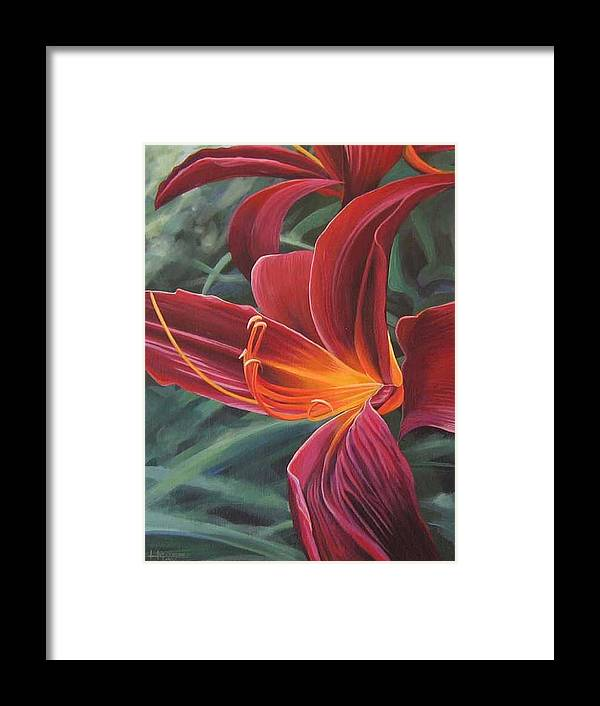 Lily Near Cheesman Park Framed Print featuring the painting Chase The Sun by Hunter Jay