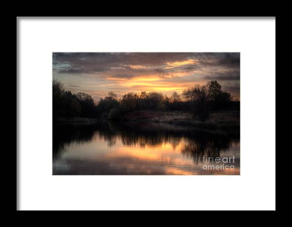 Brownhills Framed Print featuring the photograph Chasewater Sunrise by MSVRVisual Rawshutterbug