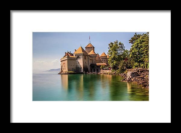 Chateau De Chillon Framed Print featuring the photograph Chateau De Chillon by Fabio Gomes Freitas
