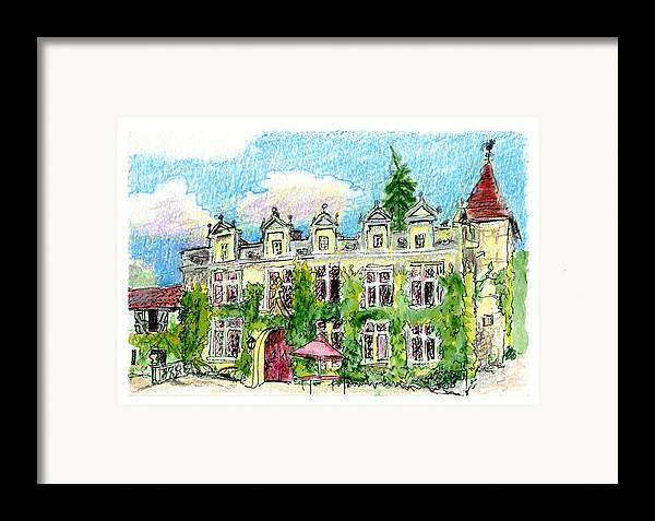 French Framed Print featuring the painting Chateau De Maumont by Tilly Strauss