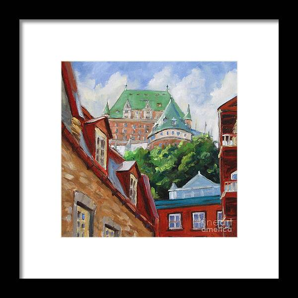Chateau Frontenac Framed Print featuring the painting Chateau Frontenac by Richard T Pranke