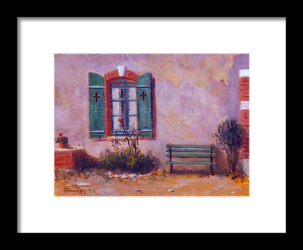 Landscape At Chateau Garden Framed Print featuring the painting Chateau Pioget Loire Valley France by David Olander
